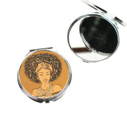 Golden Glow Compact Mirror