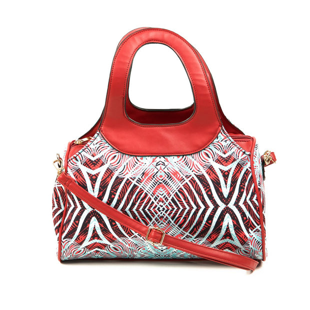 Safari Wild Child Tribal Print Canvas Handbag