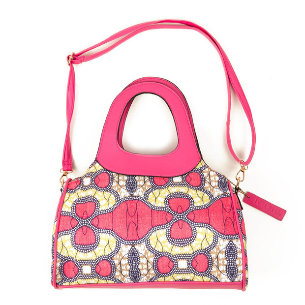 Pink and Poppin Tribal Print Canvas Handbag