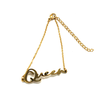Queen Script Bracelet (18k gold or silver plated)