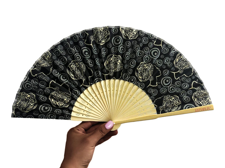 Circles of Beauty Bamboo Hand Fan