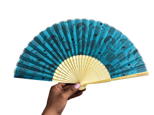 Culture. Confidence. Soul Bamboo Hand Fan
