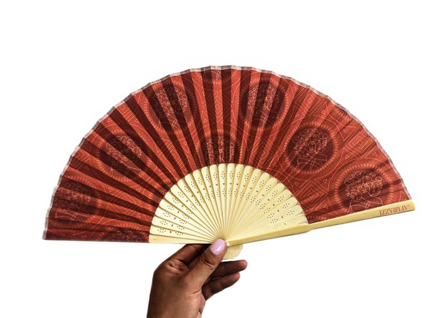 Curly Glory Bamboo Hand Fan