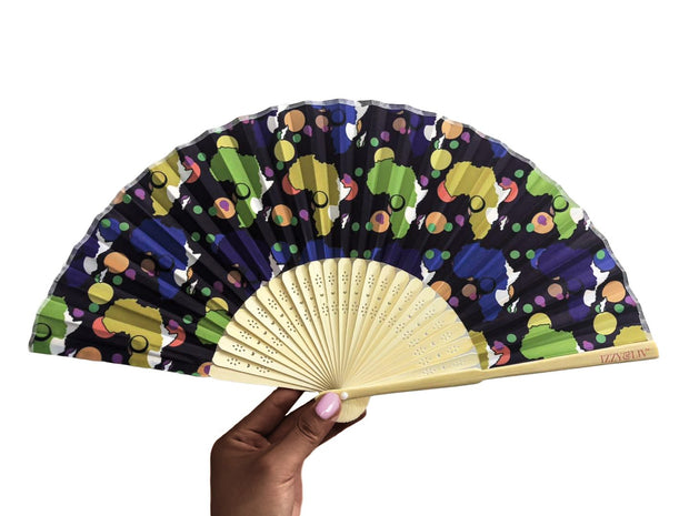 Diaspora Twilight Bamboo Hand Fan