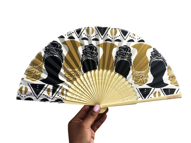 Queendom Bamboo Hand Fan
