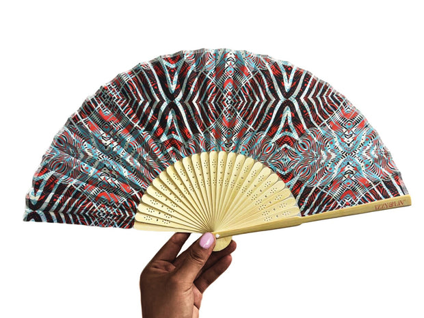 Safari Wild Child Bamboo Hand Fan