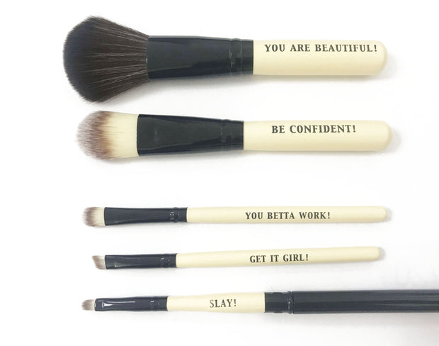 5-Piece Makeup Brush Set - Izzy & Liv - Accessories