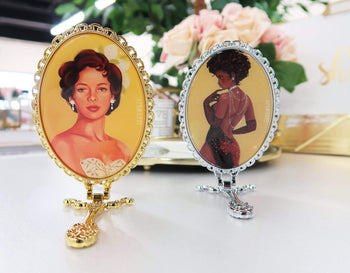 Classically Glam Handheld Mirror - Izzy & Liv - mirror