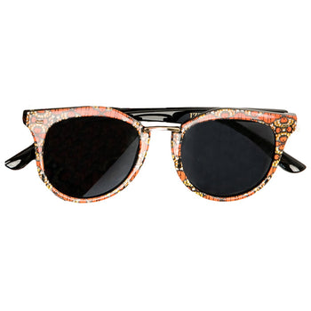 Coral/Yellow Ankara Print Sunglasses