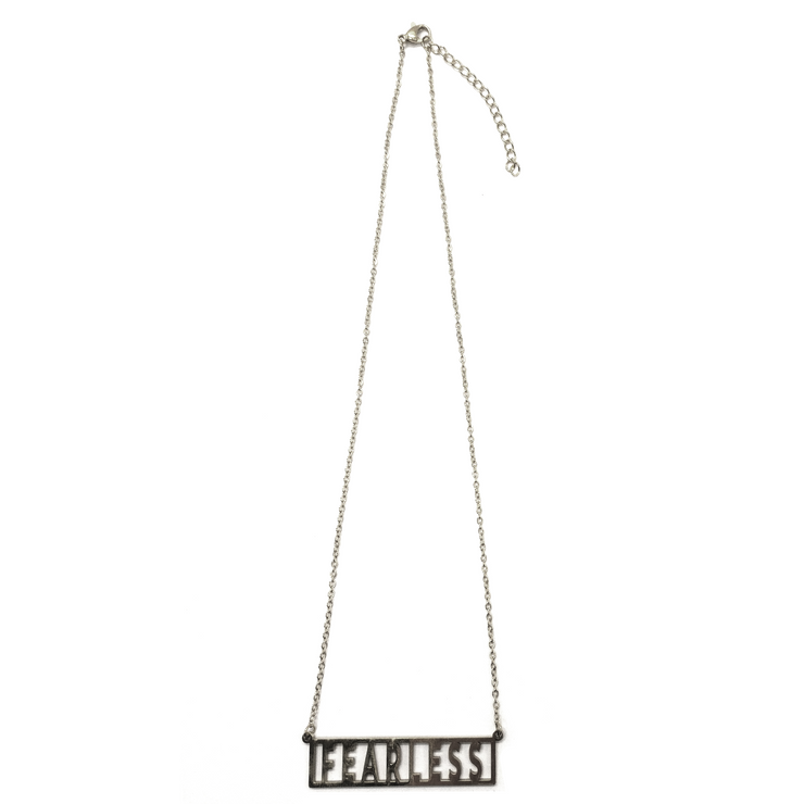 """Fearless""  Frame Block Adjustable Necklace (18k gold or silver plated)"