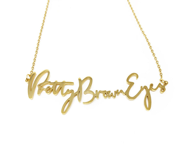 """Pretty Brown Eyes"" Necklace"