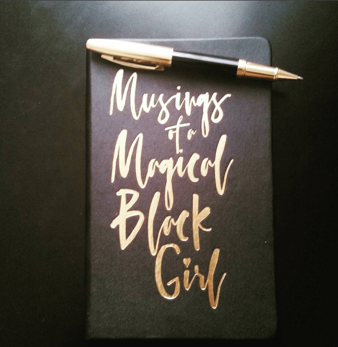 Musings of a Magical Black Girl Faux Leather Journal