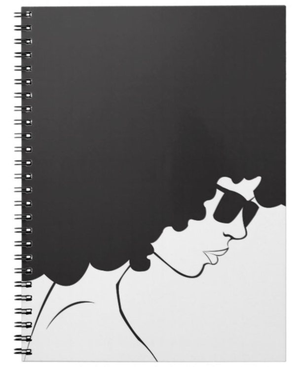 Curly Fro Notebook - Izzy & Liv - notebook
