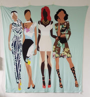 Fly Girl Squad Versatile Tapestry/Throw - Izzy & Liv - blanket