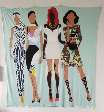 Fly Girl Squad Versatile Tapestry/Throw