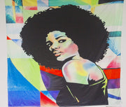Multicolor Afro Woman Versatile Tapestry/Throw
