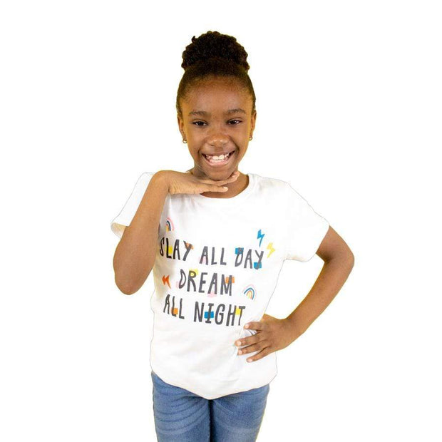 Slay All Day Dream All Night Girls Tee - Izzy & Liv - kid tee