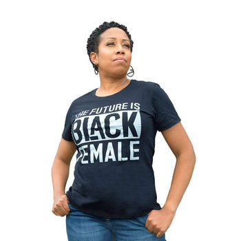 The Future Is Black Female T-Shirt - Izzy & Liv - graphic tee