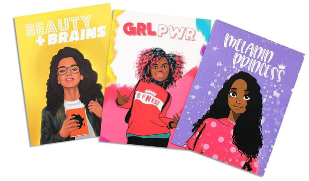 Girl Power Pocket Folder Set (3) - Izzy & Liv - notebook