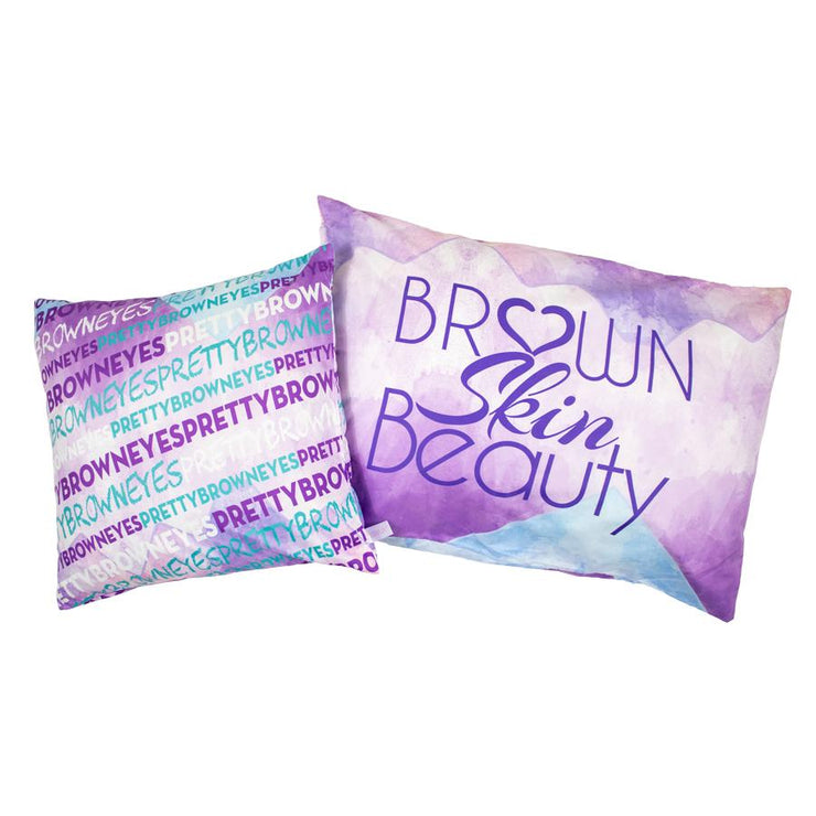 Brown Skin Beauty Pillowcase + Cover Set