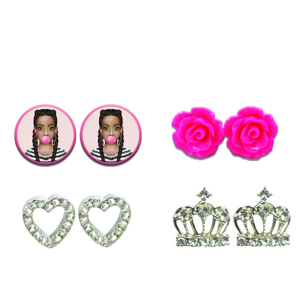 Black Girl Magic Stud Earring Set