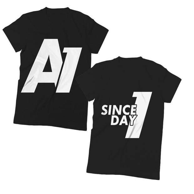 A1 and/or Since Day 1 T-Shirts - Izzy & Liv - couples graphic tees