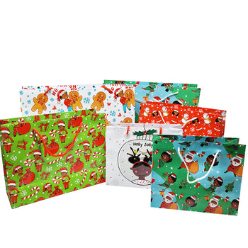 Boys & Girls Holiday Gift Bag Set (6)