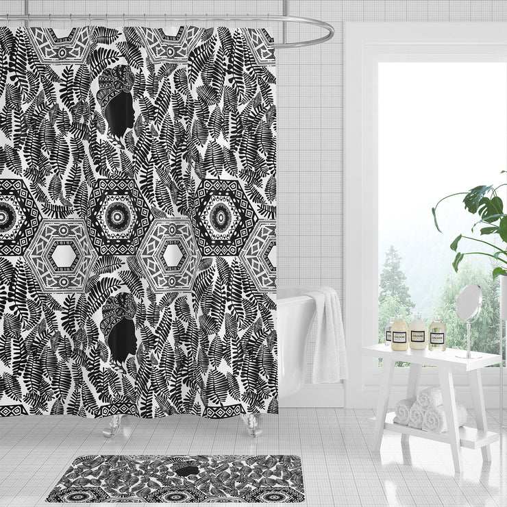 Black Onyx Beauty Shower Curtain