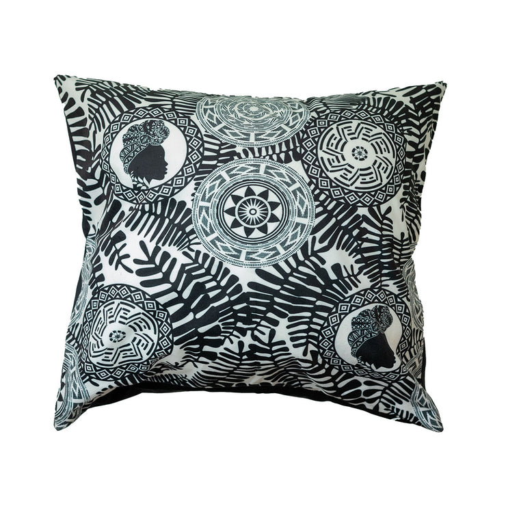 Black Onyx Beauty Throw Pillow Cover