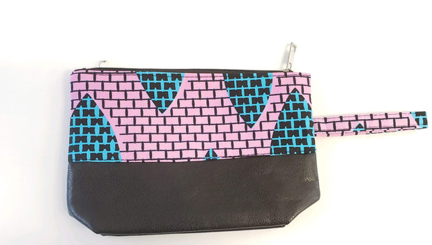 Ankara Leather Pouch