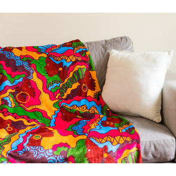 Beautiful Bold Sistas Plush Fleece Blanket