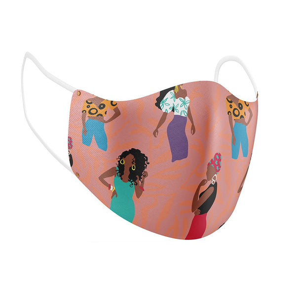 Brown Sugar Sunshine Facial Covering w/Adjustable Straps (Adults)
