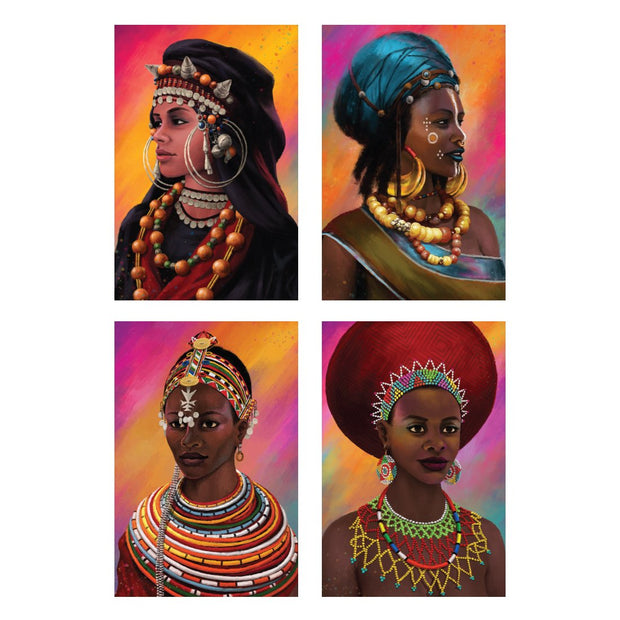 Nubian Royalty Tribal Print Set