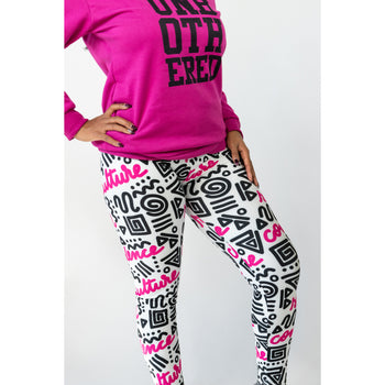 Culture Confidence Soul Stretch Leggings (Pink)