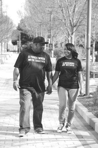 Couples Graphic Tees - A Movement Myself And/or A Force Together Couples T-Shirt
