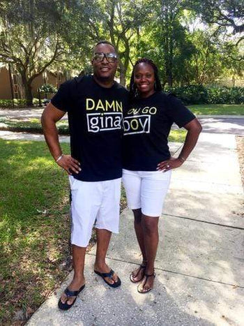 Couples Graphic Tees - Damn Gina And/or You Go Boy Couples T-Shirt (add Seperately)