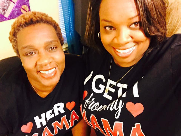 Couples Graphic Tees - I Get It From My Mama / Her Mama - Mommy & Me T-Shirt (add Seperately)