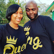 King and/or Queen Couples T-Shirt - Izzy & Liv - couples graphic tees