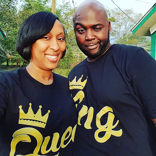 Couples Graphic Tees - King And/or Queen Couples T-Shirt
