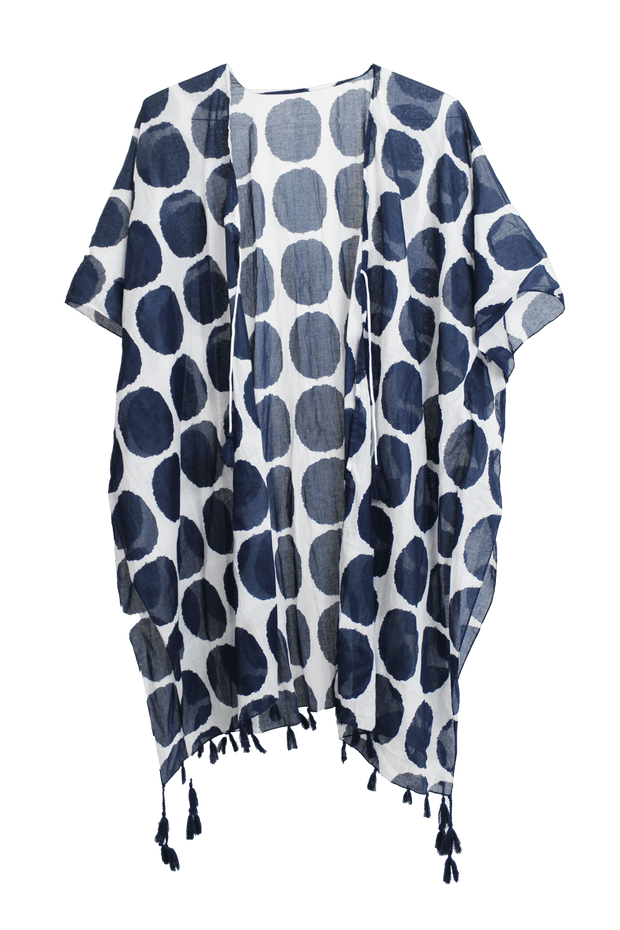 Black & White Dots Swimsuit Coverup