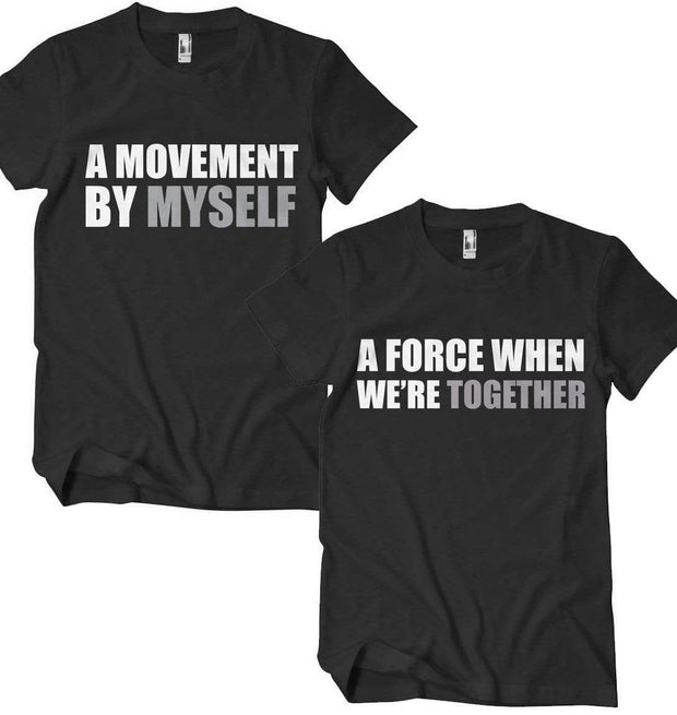 A Movement Myself and/or A Force Together Couples T-Shirt - Izzy & Liv - crew neck