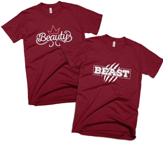 Beauty and/or Beast Couples T-Shirt - Izzy & Liv - crew neck