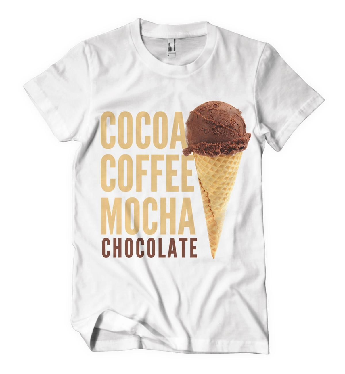 Cocoa Coffee Mocha Chocolate T-Shirt - Izzy & Liv - crew neck