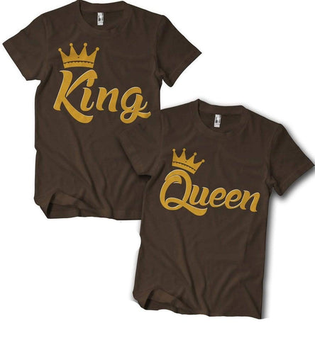 King & Queen Couples T-Shirt - Izzy & Liv - 1