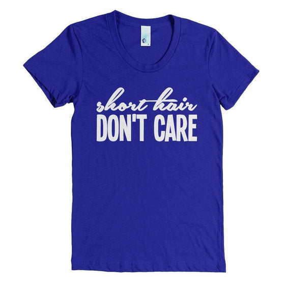 Short Hair, Don't Care T-Shirt - Izzy & Liv - 1