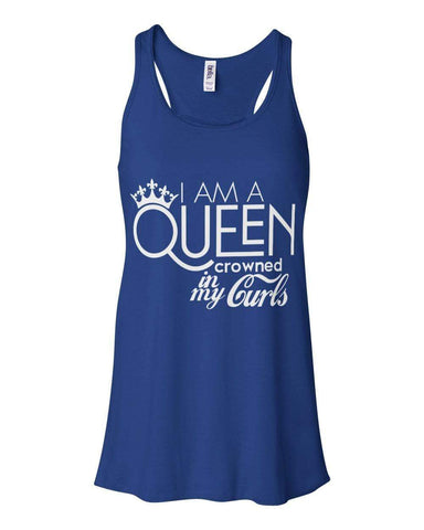 Queen Crowned By My Curls Tank Top - Izzy & Liv - 1