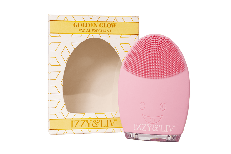 Golden Glo Exfoliating Silicone Cleansing Brush (w/Charger) - Izzy & Liv - beauty