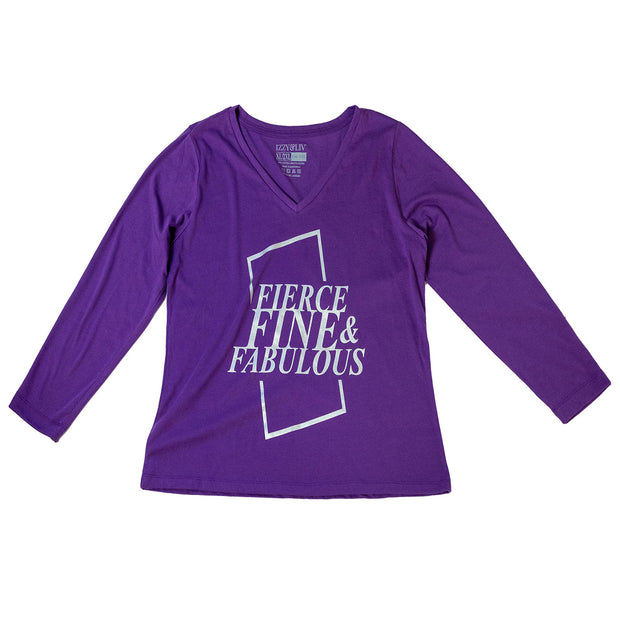 Fierce, Fine, & Fabulous V-Neck Long Sleeve T-Shirt