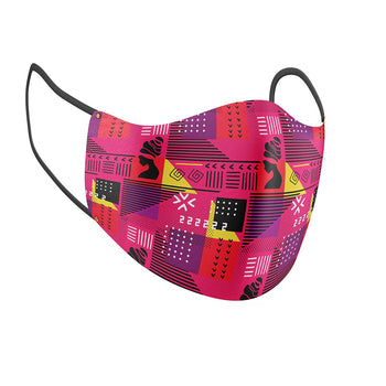Geometric Goddess Facial Covering w/Adjustable Straps (Adults)