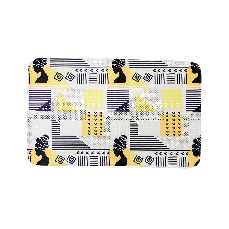 Geometric Goddess (Yellow) Bath Mat